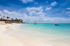 Eagle beach in Aruba stock images