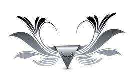 Eagle beflügelt Logo Lizenzfreie Stockfotografie