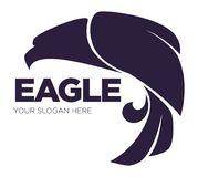 Eagle bird or fantasy logo template for security or innovation company. Royalty Free Stock Image
