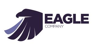 Eagle bird or fantasy logo template for security or innovation company. Stock Image