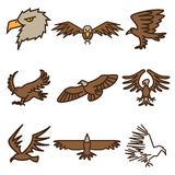 Eagle bird icons Royalty Free Stock Images