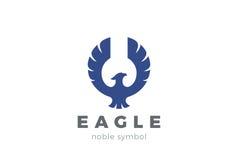 Eagle bird Logo abstract . Flying Falcon Hawk Phoenix Royalty Free Stock Photo