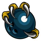 Eagle Bird Monster Claw Holding Bowling Ball royalty free illustration