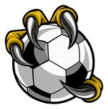 Eagle Bird Monster Claw Talons Holding Soccer Ball vector illustration