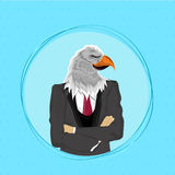 Eagle Bird in Suit, Anthropomorphic design. Royalty Free Stock Photography