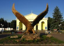 Eagle bird, the symbol of Orel city, Russia royalty free stock photo