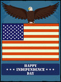 Eagle Bird in 4th of July Happy Independence Day of America background. In vector Stock Images