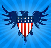 Eagle blue background Stock Photography
