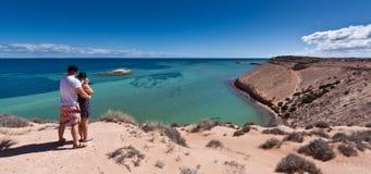 Eagle Bluff - área del patrimonio mundial de la bahía del tiburón fotografía de archivo libre de regalías