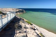 Eagle Bluff-Ausblick Denham Haifisch-Bucht Sein gelegen auf Wellington-Straße und war im November 2012 geöffnet Lizenzfreie Stockfotos