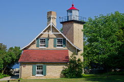 Eagle Bluff Lighthouse. Door County Peninsula, Wisconsin Royalty Free Stock Image