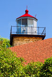 Eagle Bluff Lighthouse Tower Arkivfoton