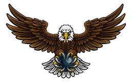 Eagle Bowling Sports Mascot Royalty Free Stock Images