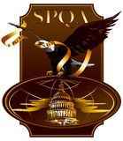 The Eagle on the building of the United States Con Royalty Free Stock Photography