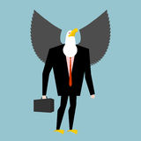 Eagle businessman. business bird in suit.  Stock Photos