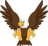 Eagle cartoon flying Royalty Free Stock Photography