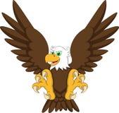 Eagle cartoon flying Royalty Free Stock Photography