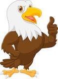 Eagle cartoon giving thumb up Royalty Free Stock Photography