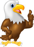 Eagle cartoon giving thumb up Stock Photography