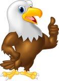 Eagle cartoon giving thumb up royalty free illustration