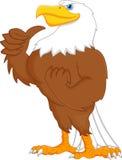 Eagle cartoon thumbs up Stock Image