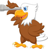 Eagle cartoon watching Stock Photography