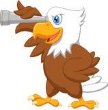 Eagle cartoon watching. Illustration of Eagle cartoon watching Stock Photography