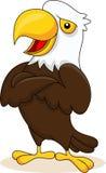 Eagle cartoon waving stock illustration