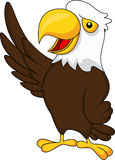 Eagle cartoon waving Stock Photos