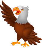 Eagle cartoon waving Royalty Free Stock Photos