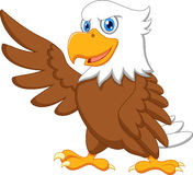 Eagle cartoon waving. Illustration of Eagle cartoon waving Stock Photos