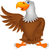 Eagle cartoon waving Royalty Free Stock Photo