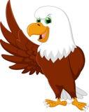 Eagle cartoon waving Royalty Free Stock Photography