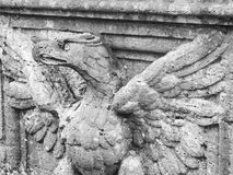 Eagle carved from stone Stock Photo