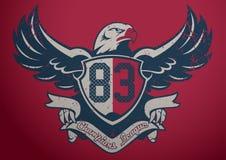 Eagle Champions League. Vector illustration of an eagle emblem Royalty Free Stock Photos
