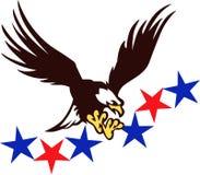 Eagle chauve patriotique Photos libres de droits