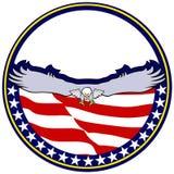 Eagle in Cirkel Royalty-vrije Stock Foto's