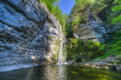 Eagle Cliff Falls, Finger Lakes, NY. Eagle Cliff falls at Havana Glen in New York. A beautiful short gorge in the Finger Lakes region Royalty Free Stock Image