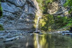 Eagle Cliff Falls, Finger Lakes, NY. Eagle Cliff falls at Havana Glen in New York. A beautiful short gorge in the Finger Lakes region Royalty Free Stock Photo