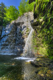 Eagle Cliff Falls, Finger Lakes, NY. Eagle Cliff falls at Havana Glen in New York from behind. A beautiful short gorge in the Finger Lakes region Royalty Free Stock Photos