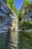 Eagle Cliff Falls finger sjöar, NY Royaltyfri Fotografi