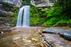 Eagle Cliff Falls, at Havana Glen Park in the Finger Lakes Regio Stock Photo