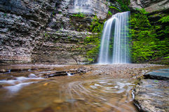 Eagle Cliff Falls, at Havana Glen Park in the Finger Lakes Regio Royalty Free Stock Photography