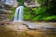 Eagle Cliff Falls, at Havana Glen Park in the Finger Lakes Regio Stock Image