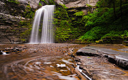 Eagle Cliff Falls, at Havana Glen Park, New York Royalty Free Stock Photo