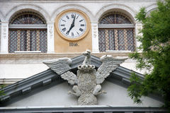 Eagle and clock Palermo stock image