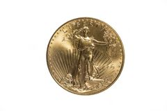 Or Eagle Coin 2 Images stock