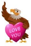 Eagle Corazón Amor Fotografía de archivo libre de regalías