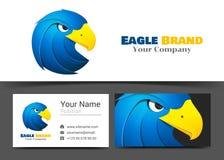 Eagle Corporate Logo e modello blu animali del segno del biglietto da visita Fotografia Stock Libera da Diritti