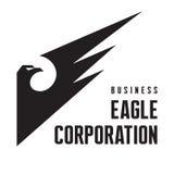 Eagle Corporation -商业公司的商标标志 免版税库存照片